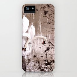 Swans friendship iPhone Case