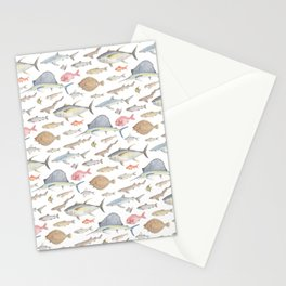 Watercolour fish Stationery Cards