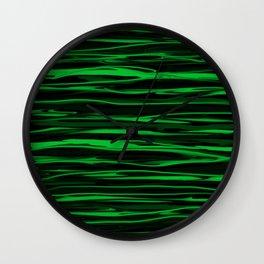 Apple Green Stripes Wall Clock