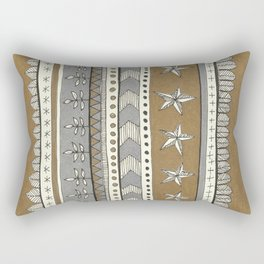 gold and silver pattern with stars Rectangular Pillow