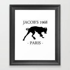 Black Dog II Contour White Jacob's 1968 fashion Paris Framed Art Print