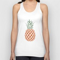 bag Tank Tops featuring Pineapple  by basilique