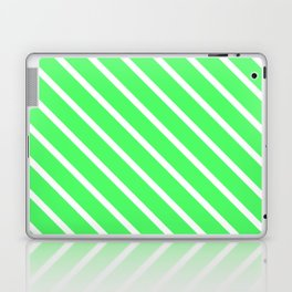 Mint Julep #1 Diagonal Stripes Laptop & iPad Skin