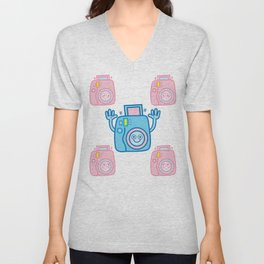 We are watching you. Say Cheese!!! Unisex V-Neck