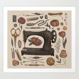 Sewing Collection Art Print