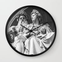 vienna Wall Clocks featuring Vienna statue by Veronika