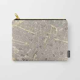 Vintage Map of Brussels Belgium (1901) Carry-All Pouch