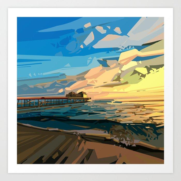 summer beach 1 Art Print