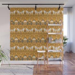 Yellow + Gray Fairy Tale Wall Mural