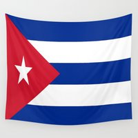 cuba Wall Tapestries featuring Flag of Cuba ★ by D.A.S.E. 3