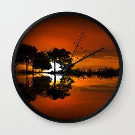 Guitarscape Sunset Wall Clock