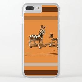 Butterscotch Stripes Clear iPhone Case