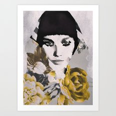 WOMAN WITH FLOWERS 5 Art Print