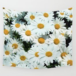 Daisies explode into flower Wall Tapestry