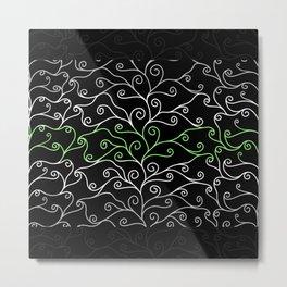 Swirls and Silk - Agender Flag Metal Print