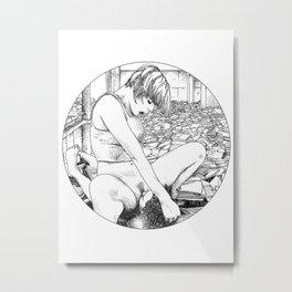 asc 372 - Le petit ami de l'archiviste (The archivist's boyfriend) Metal Print