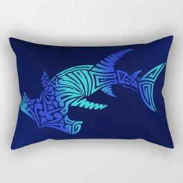 Ombre Blues Hammerhead Rectangular Pillow