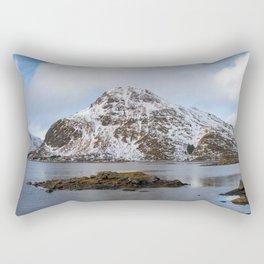 The Red Shed Panorama Rectangular Pillow