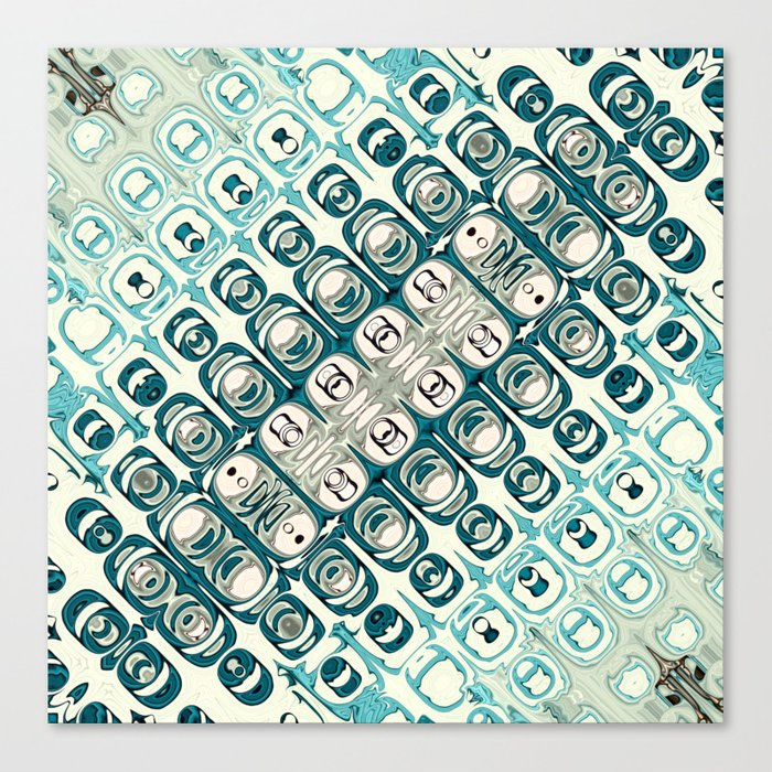Turquoise Tile Pattern Canvas Print