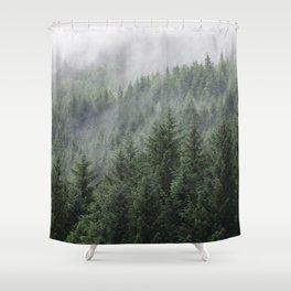 Fog Forest Shower Curtain