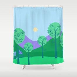 Kawai Landscape Shower Curtain