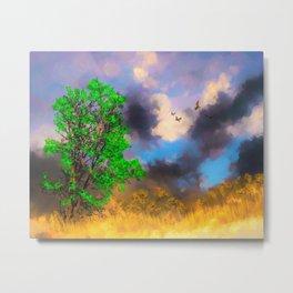The Landscape Watercolor (Color) Metal Print