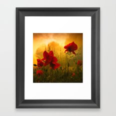 Red For Love Framed Art Print