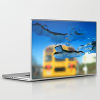 sia Laptop & iPad Skins featuring yellow bus and ice photography  by Antoine