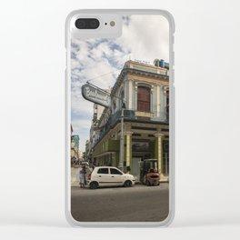 Nice lookin' street corner in La Havana, Cuba Clear iPhone Case