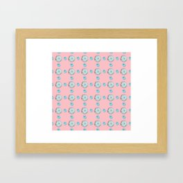 Pink Cactai Framed Art Print