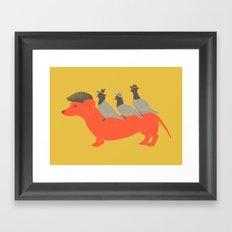 Taxi-Dog (yellow) Framed Art Print