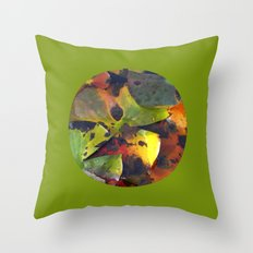 autumn lily pads IV Throw Pillow