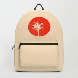 the palm tree with sunset Backpack