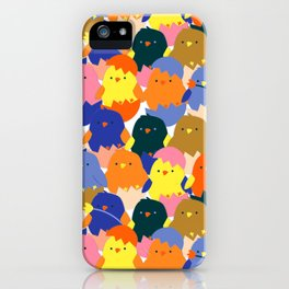Colored Baby Chickens pattern iPhone Case