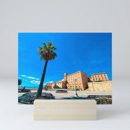 View of Cagliari   Cagliari Sardinia Italy Travel Photography   Travel photo Art Mini Art Print