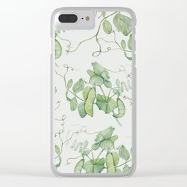 Floating Peas Clear iPhone Case