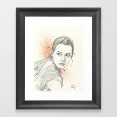 REY AWAKENS Framed Art Print