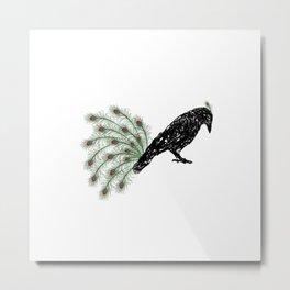 Funny Crow Metal Print