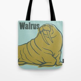 Animal Alphabet - Walrus Tote Bag