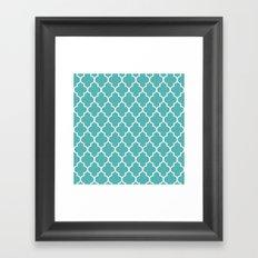 Marrakesh Teal Framed Art Print