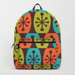 Mid Century Modern Atomic Fusion Pattern 934 Backpack