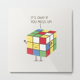 it's okay if you mess up! Metal Print