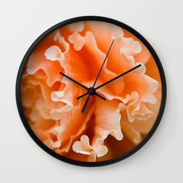 Creamsicle Begonia  Wall Clock