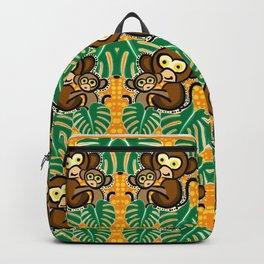Monkey pattern Backpack