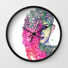 Living in Bubble Wall Clock