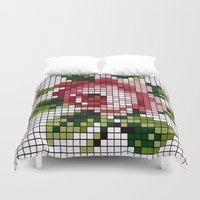 shabby chic Duvet Covers featuring Shabby Chic Rose by Alisa Galitsyna