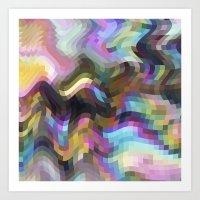 Crazy Quartz Art Print