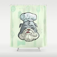 chef Shower Curtains featuring Chef by Keyspice