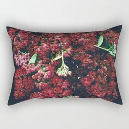 Burgundy Sedum Flowers Rectangular Pillow