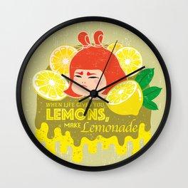 When Life Gives You Lemons, Make Lemonade Wall Clock